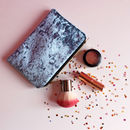 Crushed Velvet Makeup Bag