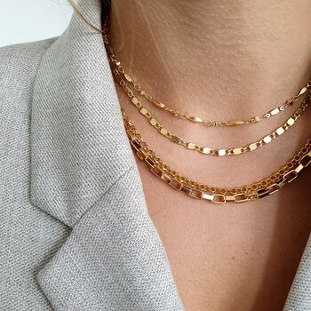 Gold Chain Necklaces Layering Set
