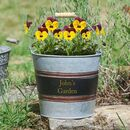 Personalised Galvanised Zinc Garden Planter Bucket