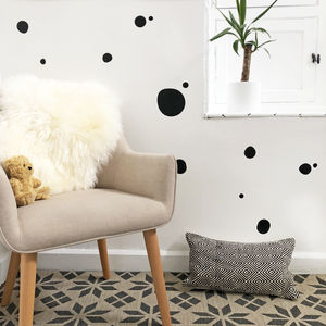 Circle Dotty Wall Sticker - office & study