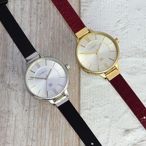 Richmond Leather Strap Watch - summer jewellery