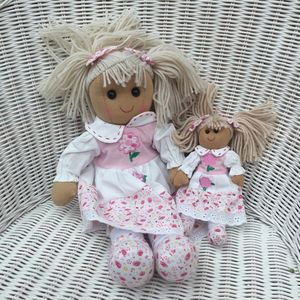 Mother And Daughter Daisy Rag Dolls