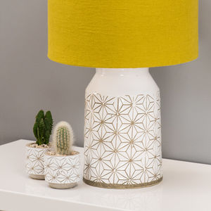 Scandi Geometric Table Lamp Base Choice Of Colours - lighting