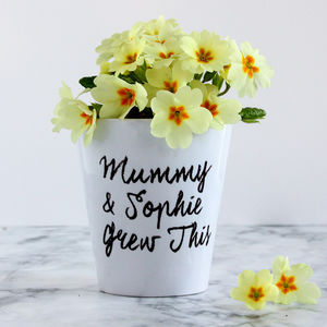 Personalised Plant Pot - personalised mother's day gifts