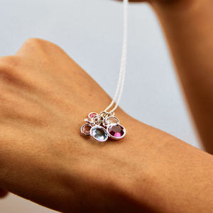 Birthstone Family Cluster Necklace - necklaces & pendants