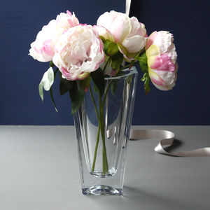 Four Sided Glass Vase - table decoration