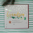 Grandson Christmas Greeting Card