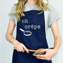 Navy pancake lovers apron