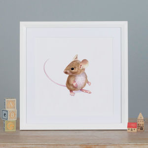 Illustrated Mouse Print