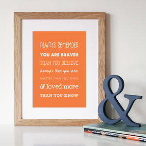 'Loved More Than You Know' Winnie The Pooh Print