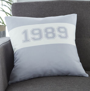 Personalised Year Cushion - 30th birthday gifts