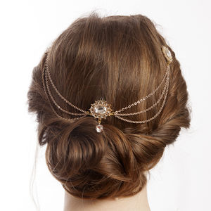 Rose Gold Bridal Headpiece - bridal hairpieces