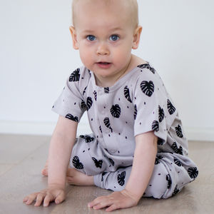 'Monsterra' Harem Toddler And Kids Organic Romper - clothing