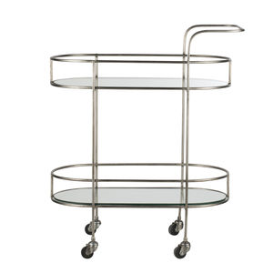 Pewter And Glass Bar Cart