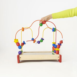 Colourful Counting Beads Toy With Mirror Top