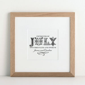 Decorative Date Print - posters & prints