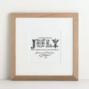 Personalised Decorative Date Print