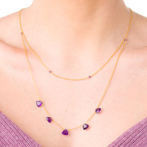 'Trilliant' Amethyst Necklace - necklaces & pendants