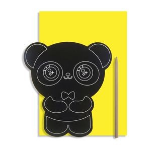 Scratch Art Panda Craft Birthday Card