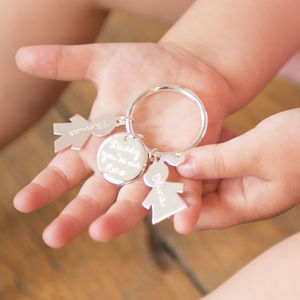 Personalised Person Key Ring - gifts for mothers