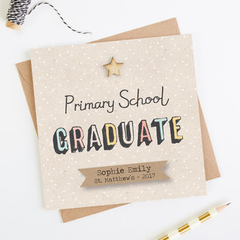 Primary School Graduation Card Personalised