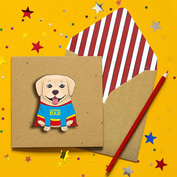Super Dad Labrador Father's Day Card