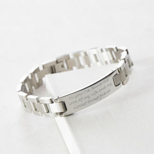 Personalised Men's Script Bracelet - for him
