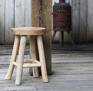 Rubble Wooden Stool - natural materials