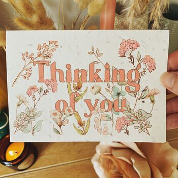 Grows Into Wildflowers Thinking Of You Card