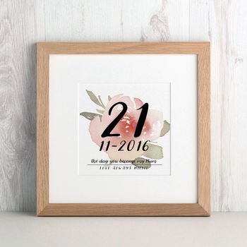 Personalised Day you Became my Mum Keepsake print from Letterfest