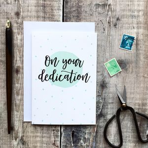 On Your Dedication Card - christening cards