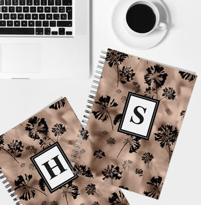 Personalised Initial Notebook Silhouette Pattern - whats new