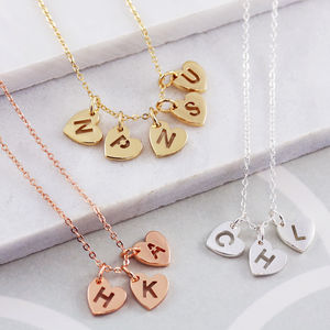 Personalised Mini Pierced Heart Necklace - personalised jewellery