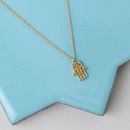 Gold Plated Hamsa Hand Necklace