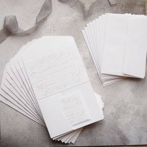 Luxury Ready To Write Gold Foil Invitation Set Of 10