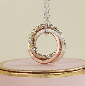 Limited Edition Eternity Diamond Bead Necklace - gold