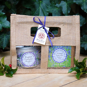 Natural Lavender Soap And Candle Gift Set