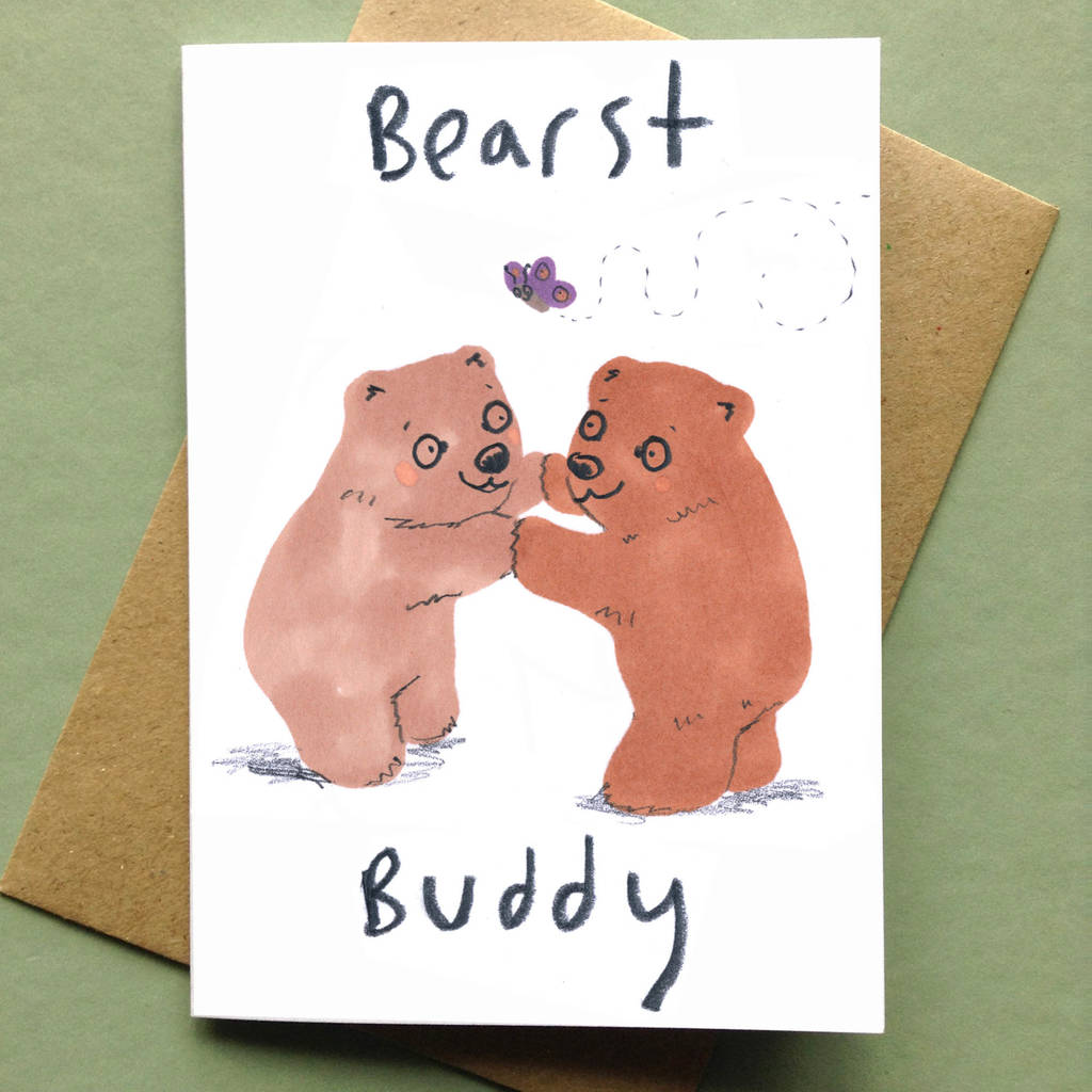 Best Friend Birthday Card Bear By Jo Clark Design