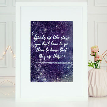 Friends Like Stars Personalised Astrology Friends Print