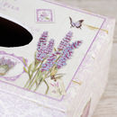 French Lavender Wooden Tissue Holder