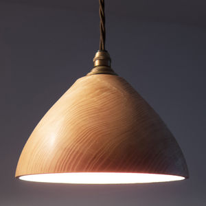 Bell Wooden Ceiling Pendant Light - home sale