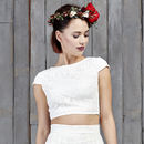 Drakeford Lace Bridal Capped Sleeved Top