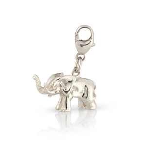 Silver Elephant Charm - children's accessories