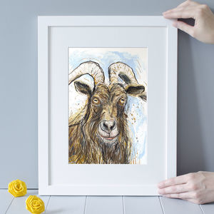'Aries' Billy Goat Art Print - posters & prints