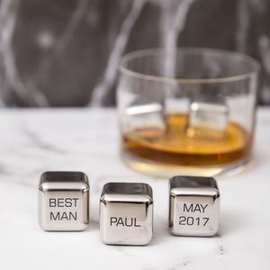 'Best Man' Stainless Steel Whisky Stones Set