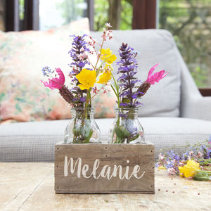 Personalised Bottle Flower Holder - gifts for her