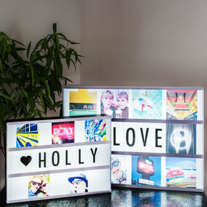 Personalised Photo Cinema Lightbox - christmas decorations