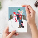 Personalised Family Festive Scene Christmas Cards