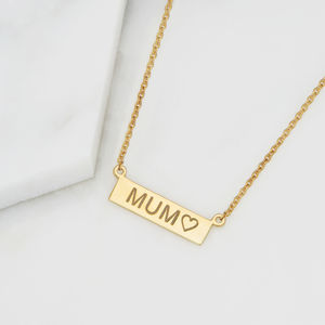 Personalised Nameplate Necklace - mum loves style