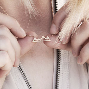 Minimalist Mountain Necklace